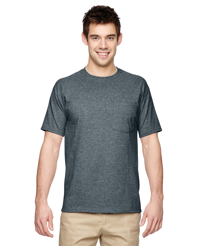 Jerzees Adult DRI-POWER® ACTIVE Pocket T-Shirt BLACK HEATHER