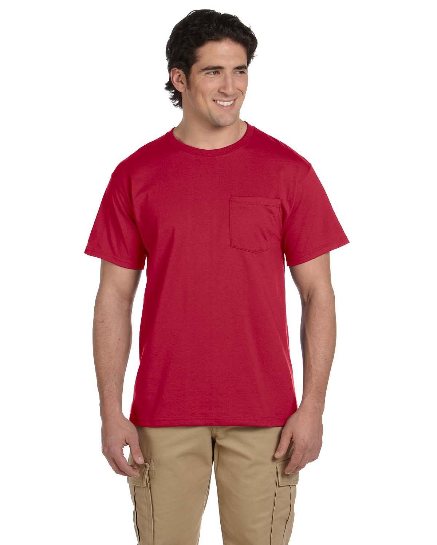 Jerzees Adult DRI-POWER® ACTIVE Pocket T-Shirt TRUE RED