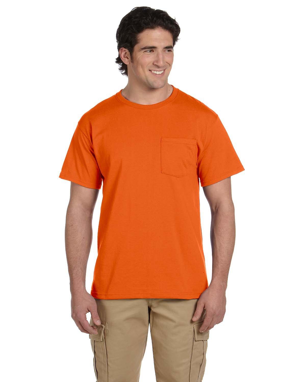 Jerzees Adult DRI-POWER® ACTIVE Pocket T-Shirt SAFETY ORANGE