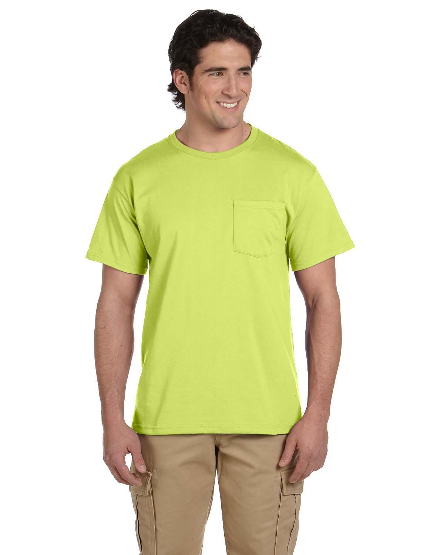 Jerzees Adult DRI-POWER® ACTIVE Pocket T-Shirt SAFETY GREEN