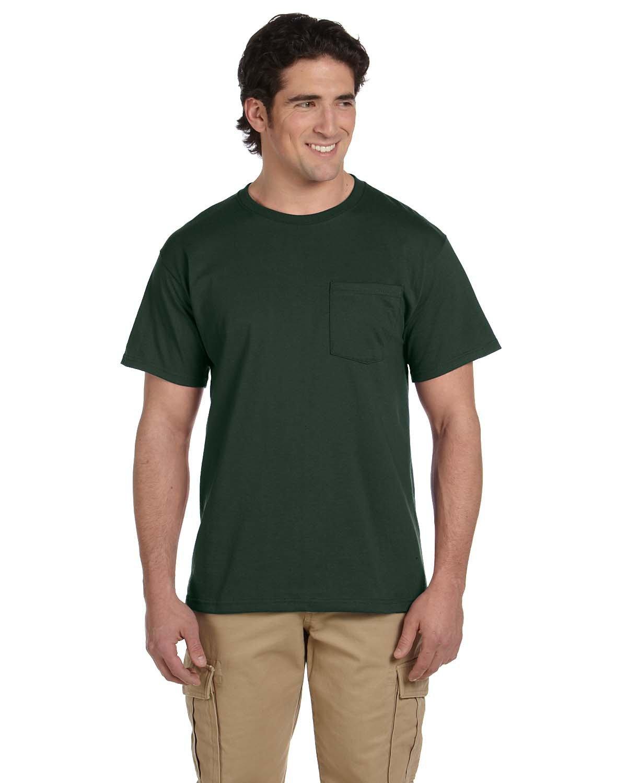 Jerzees Adult DRI-POWER® ACTIVE Pocket T-Shirt FOREST GREEN