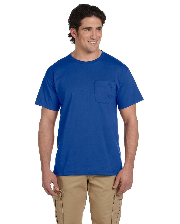 Jerzees Adult DRI-POWER® ACTIVE Pocket T-Shirt ROYAL