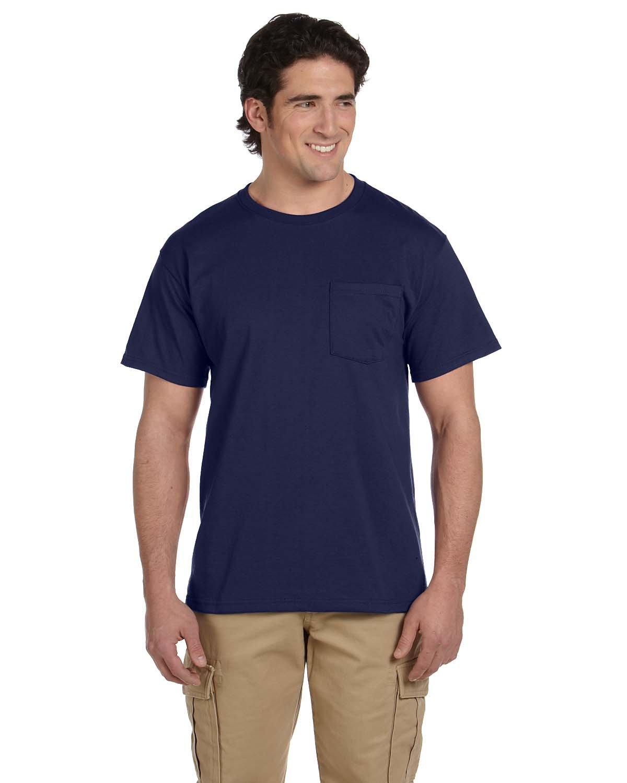 Jerzees Adult DRI-POWER® ACTIVE Pocket T-Shirt J NAVY