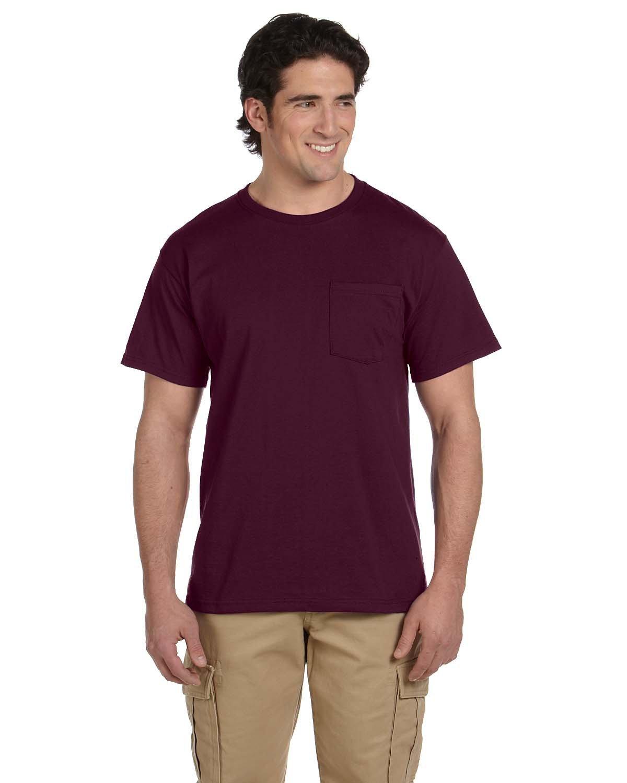 Jerzees Adult DRI-POWER® ACTIVE Pocket T-Shirt MAROON