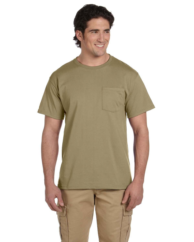Jerzees Adult DRI-POWER® ACTIVE Pocket T-Shirt KHAKI