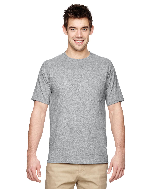 Jerzees Adult DRI-POWER® ACTIVE Pocket T-Shirt ATHLETIC HEATHER