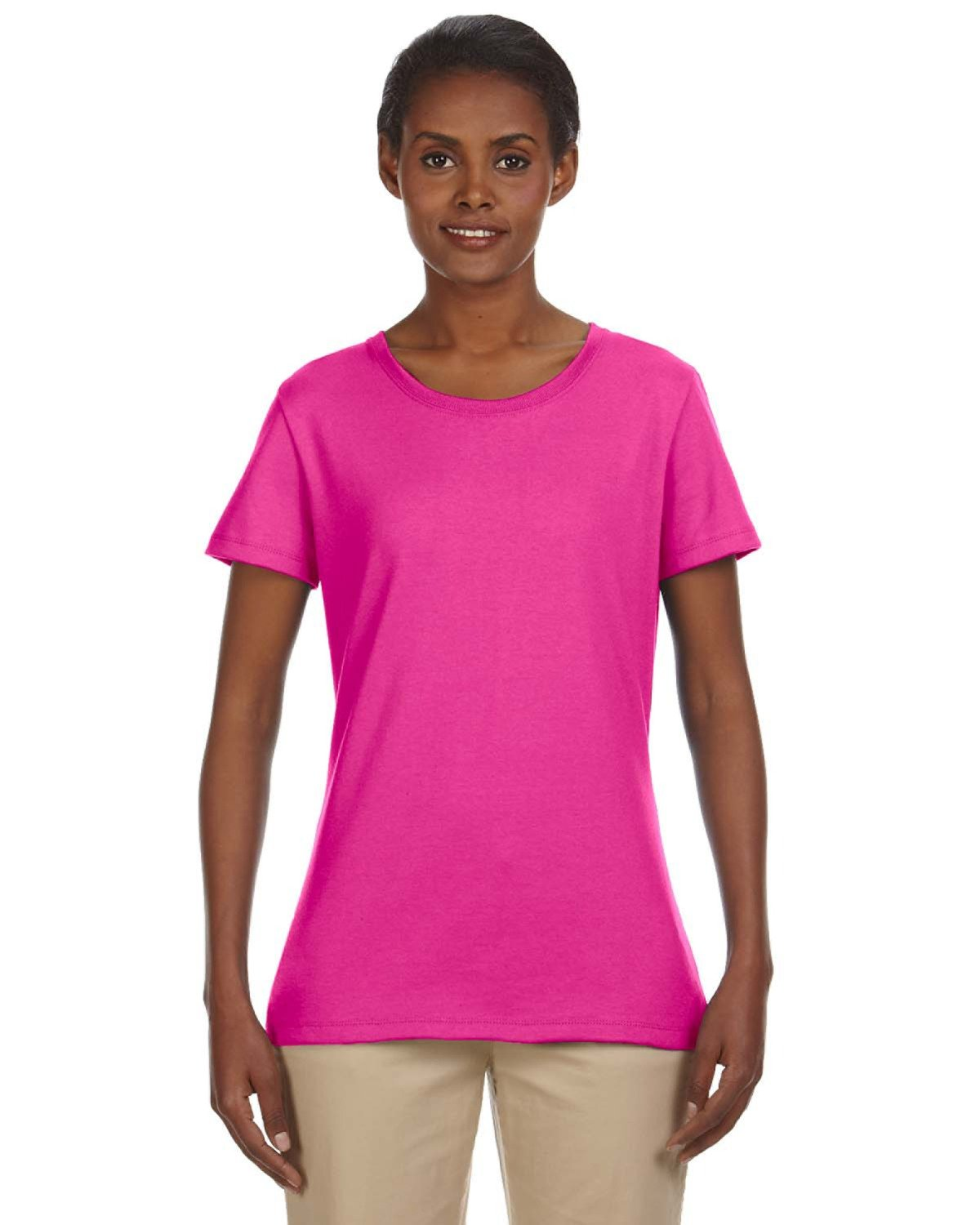 Jerzees Ladies' DRI-POWER® ACTIVE T-Shirt CYBER PINK