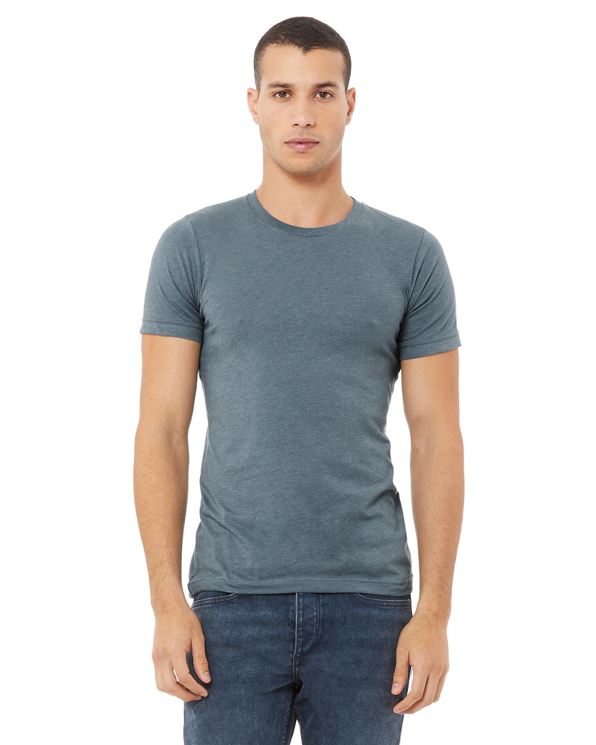 Bella + Canvas Unisex Heather CVC T-Shirt HEATHER SLATE