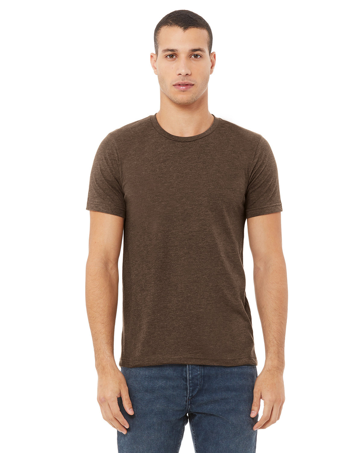 Bella + Canvas Unisex Heather CVC T-Shirt HEATHER BROWN