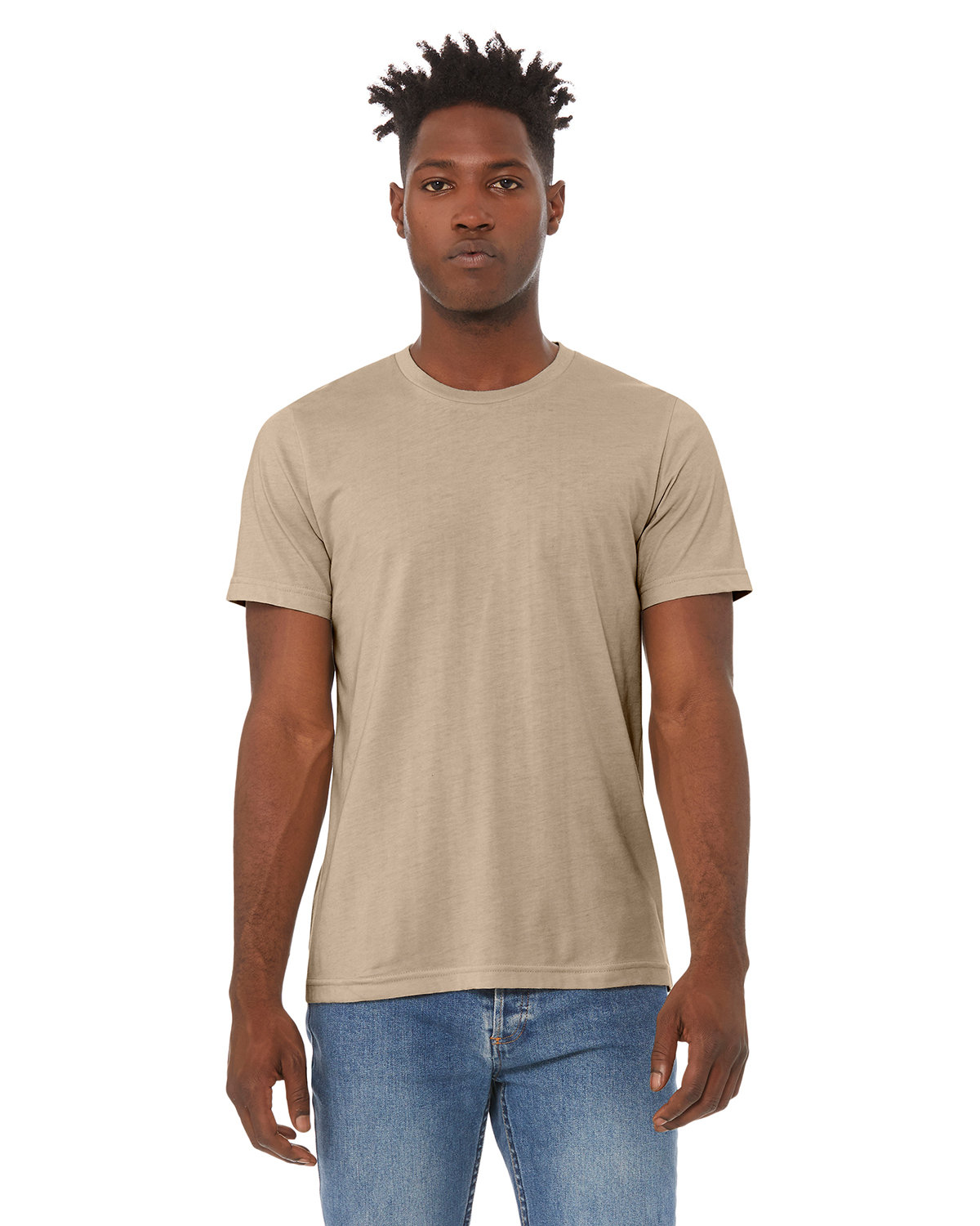 Bella + Canvas Unisex Heather CVC T-Shirt HEATHER TAN