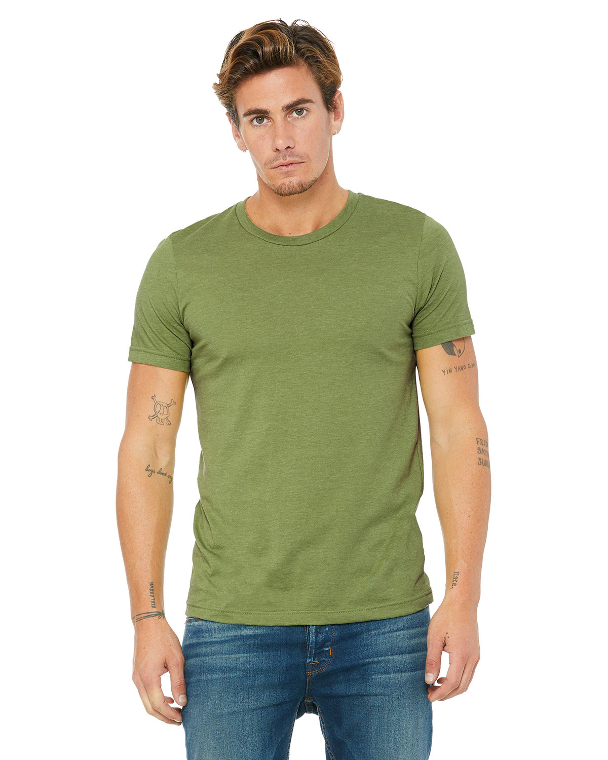 Bella + Canvas Unisex Heather CVC T-Shirt HEATHER GREEN