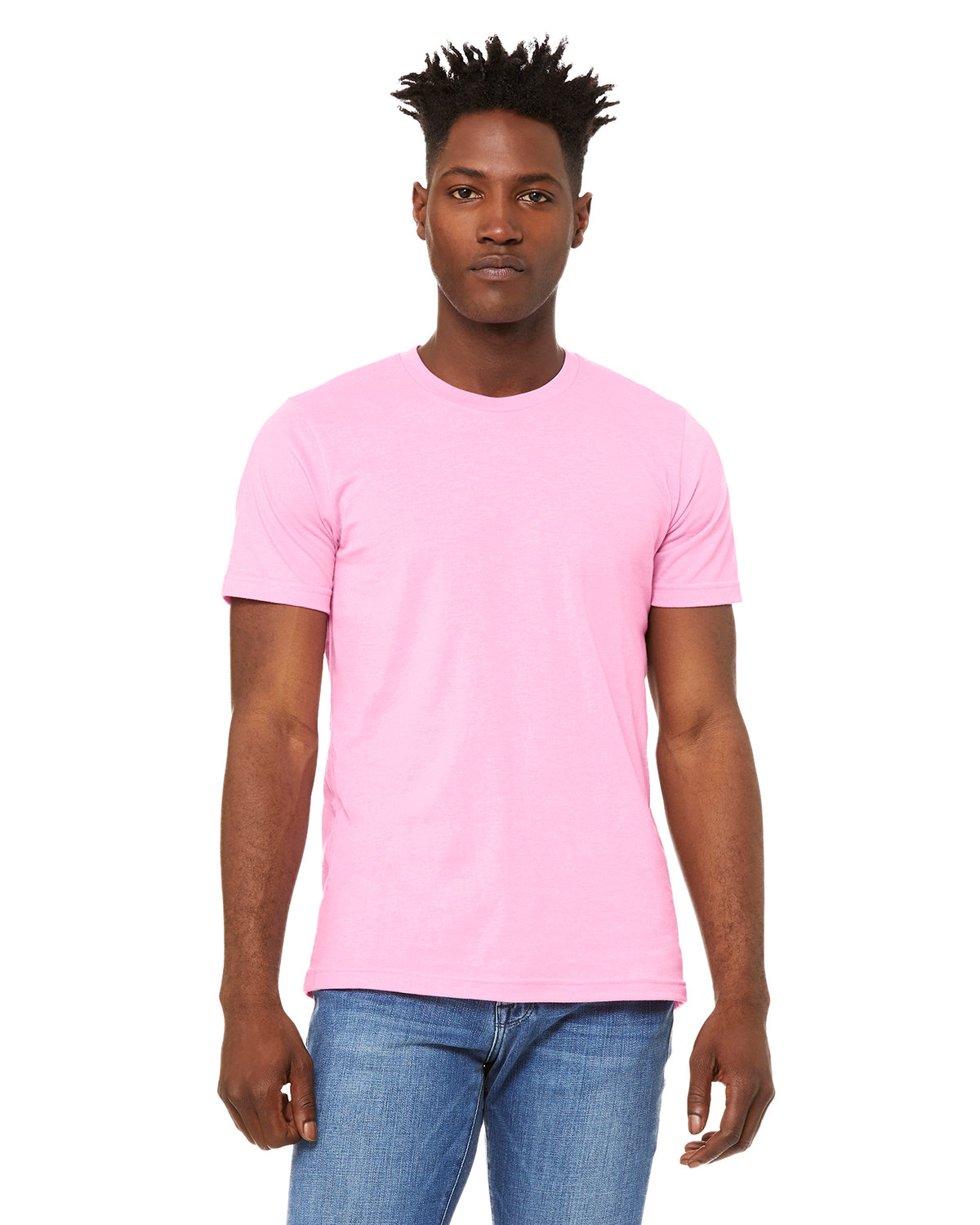 Bella + Canvas Unisex Heather CVC T-Shirt HTHR BUBBLE GUM