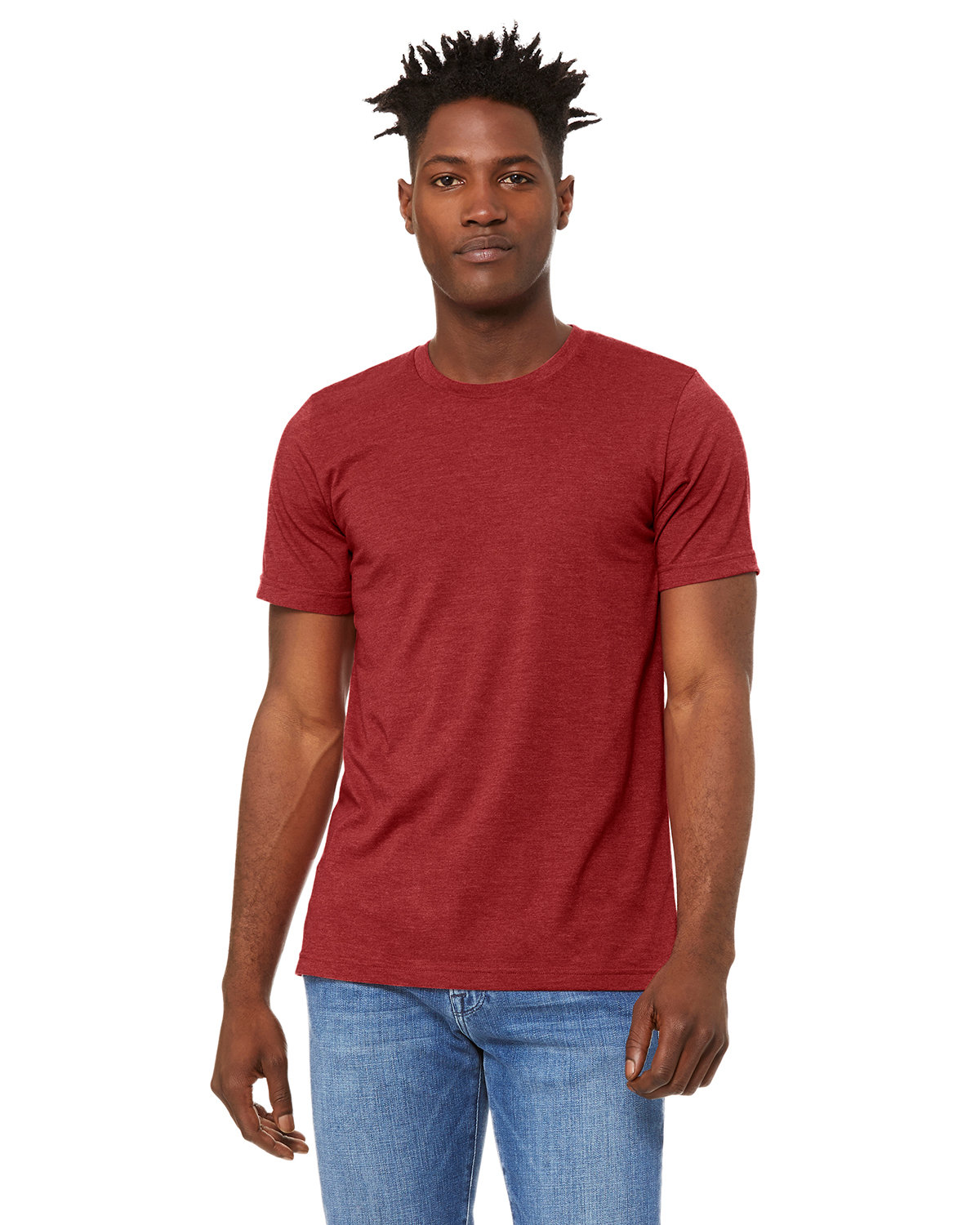 Bella + Canvas Unisex Heather CVC T-Shirt HTHR CANVAS RED