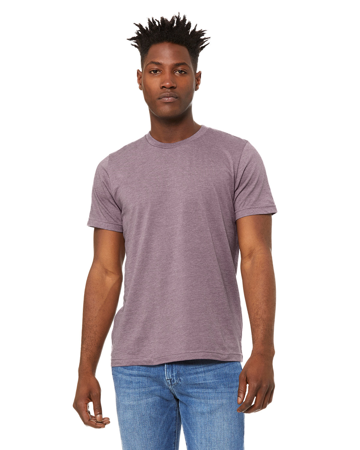 Bella + Canvas Unisex Heather CVC T-Shirt HEATHER PURPLE