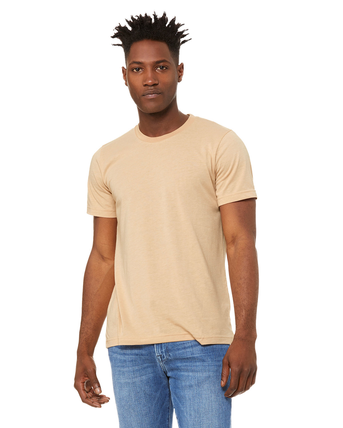 Bella + Canvas Unisex Heather CVC T-Shirt HEATHR SAND DUNE