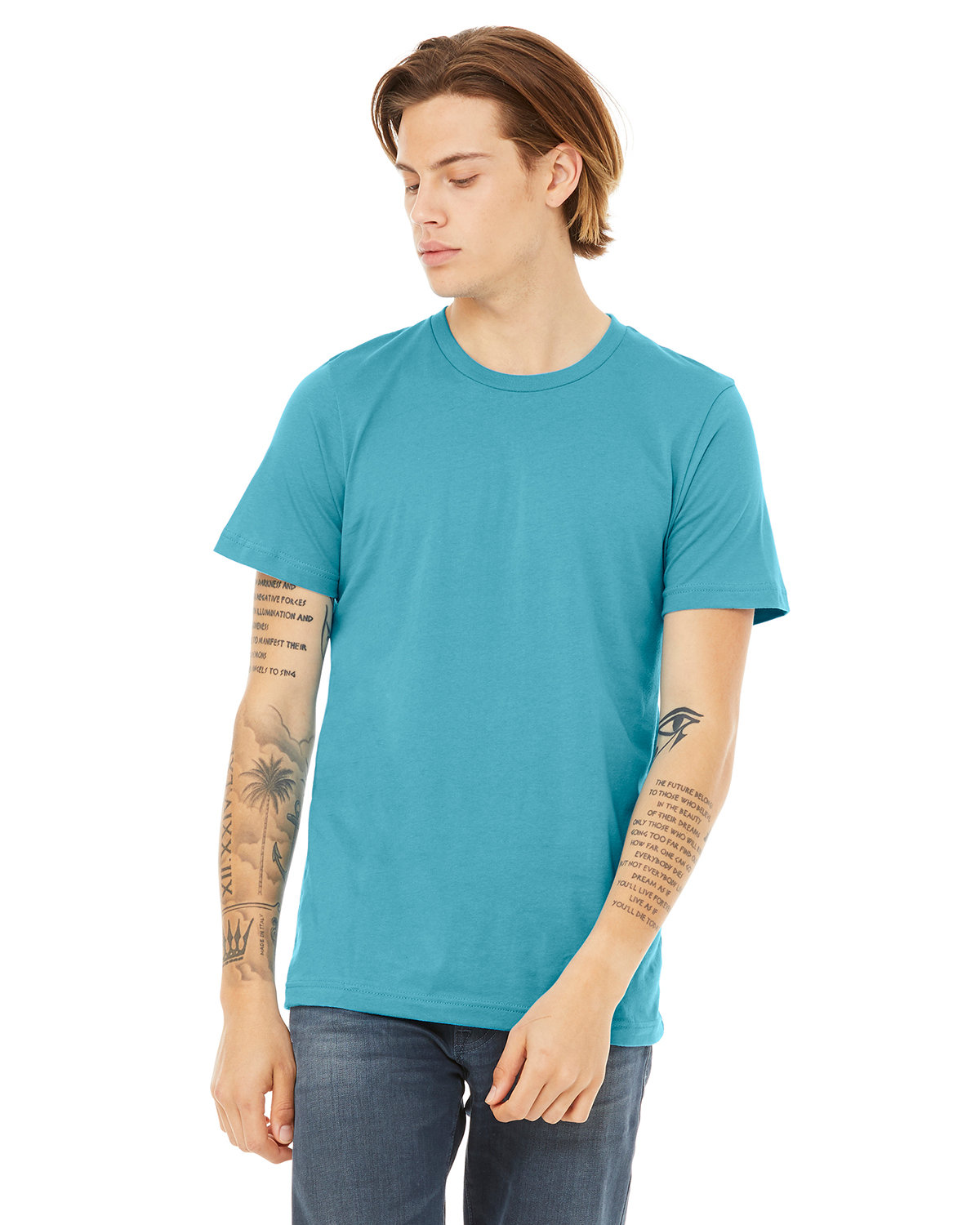 Bella + Canvas Unisex Heather CVC T-Shirt HEATHER AQUA