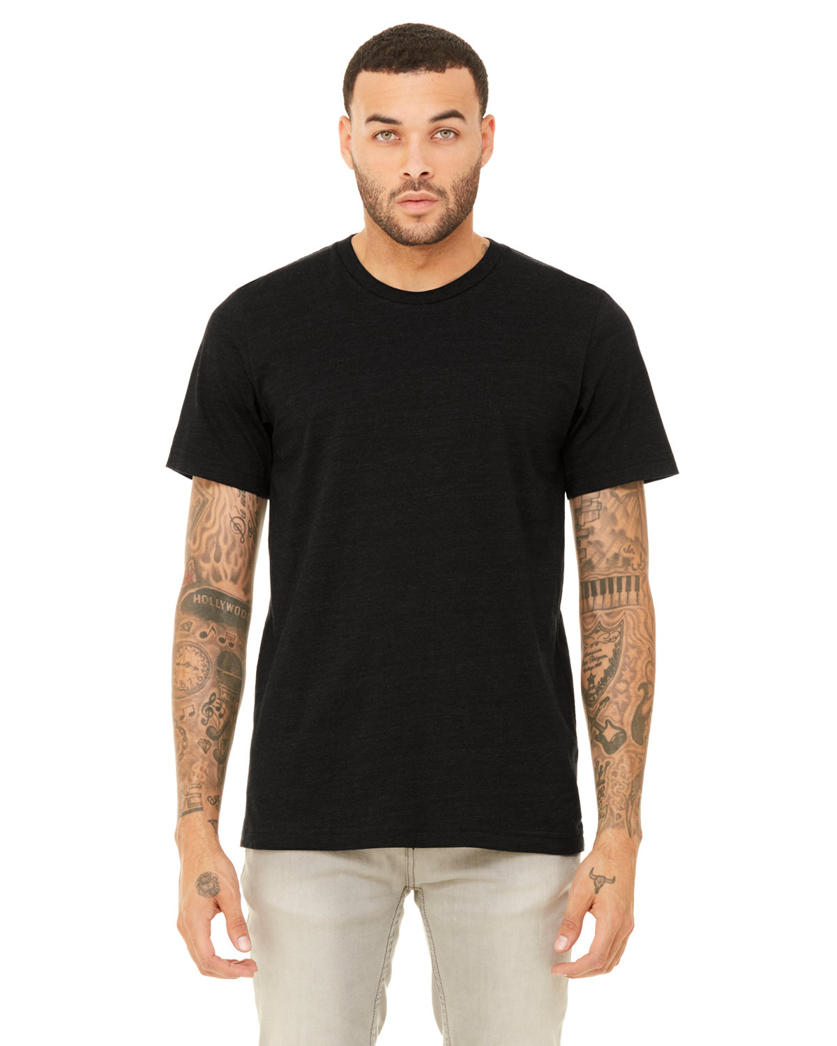 Bella + Canvas Unisex Heather CVC T-Shirt BLACK HEATHER