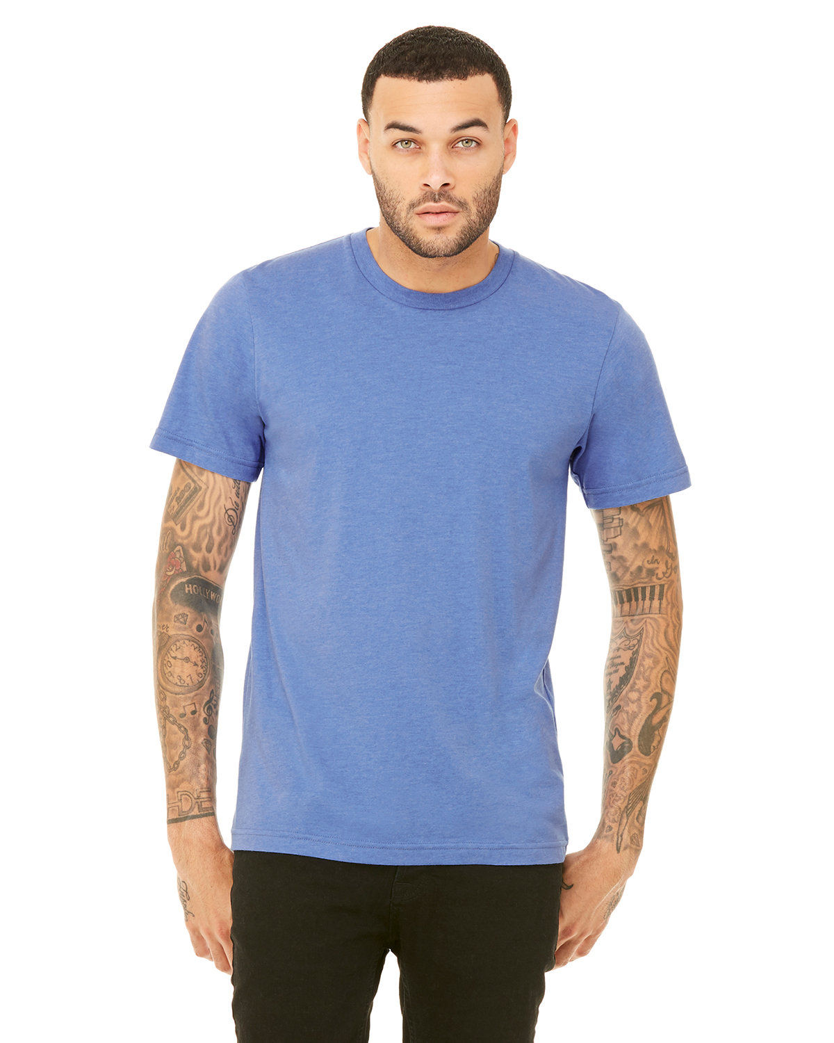 Bella + Canvas Unisex Heather CVC T-Shirt HTHR COLUM BLUE