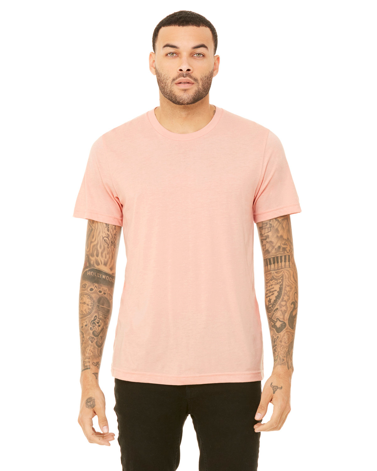 Bella + Canvas Unisex Heather CVC T-Shirt HEATHER PEACH