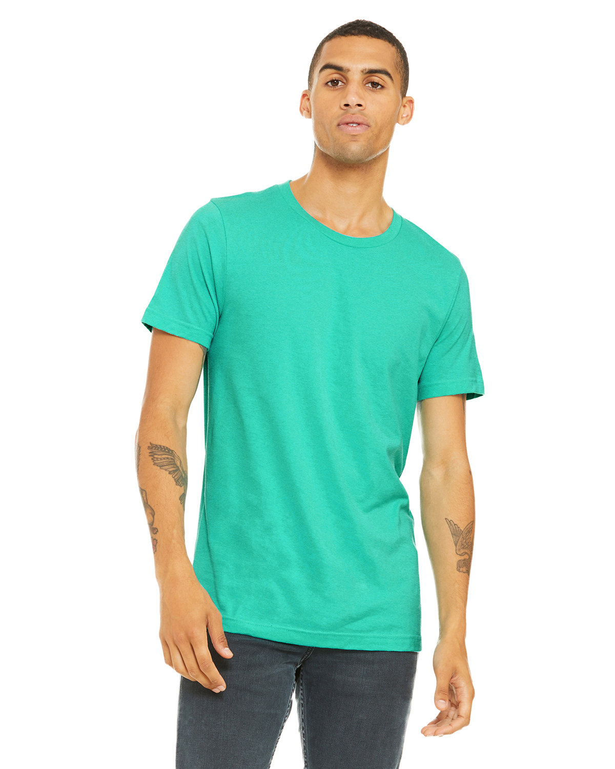 Bella + Canvas Unisex Heather CVC T-Shirt HEATHER SEA GRN