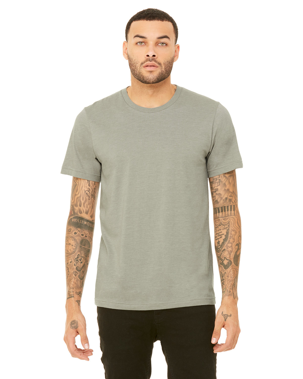 Bella + Canvas Unisex Heather CVC T-Shirt HEATHER STONE