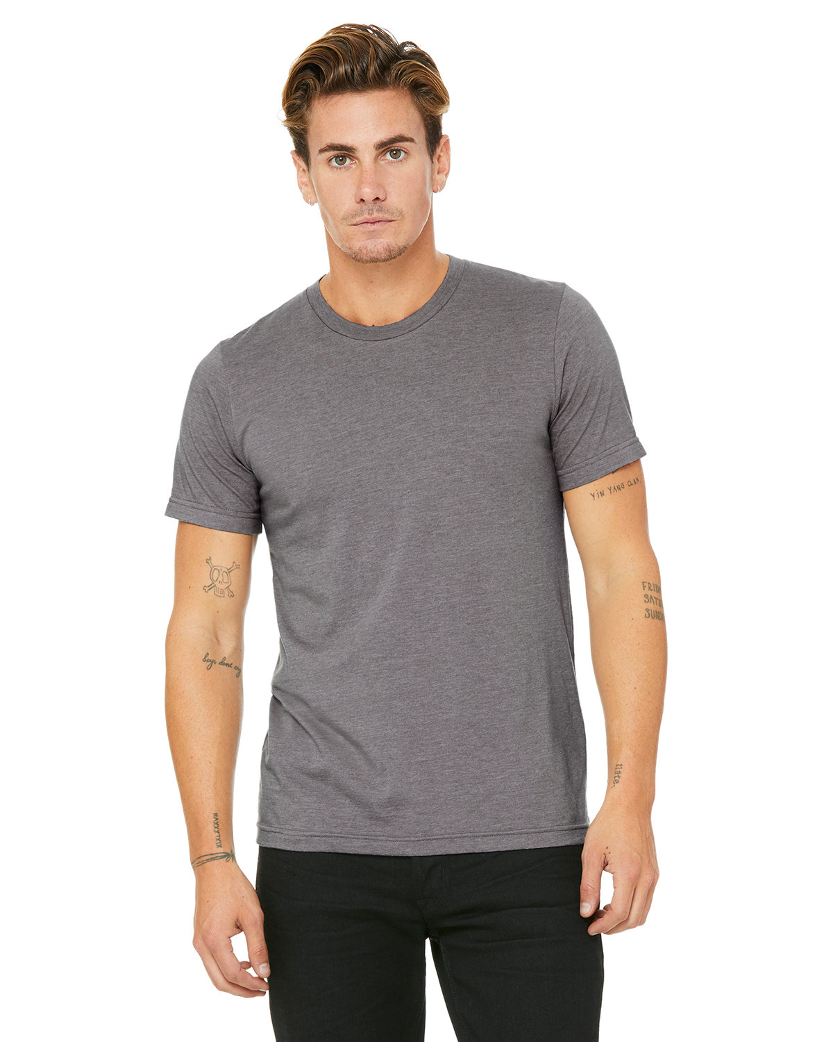 Bella + Canvas Unisex Heather CVC T-Shirt HEATHER STORM