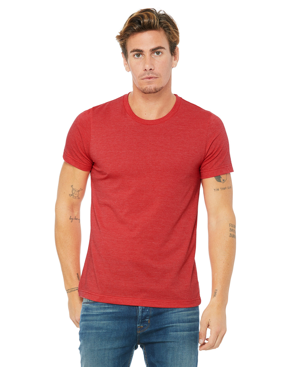 Bella + Canvas Unisex Heather CVC T-Shirt HEATHER RED