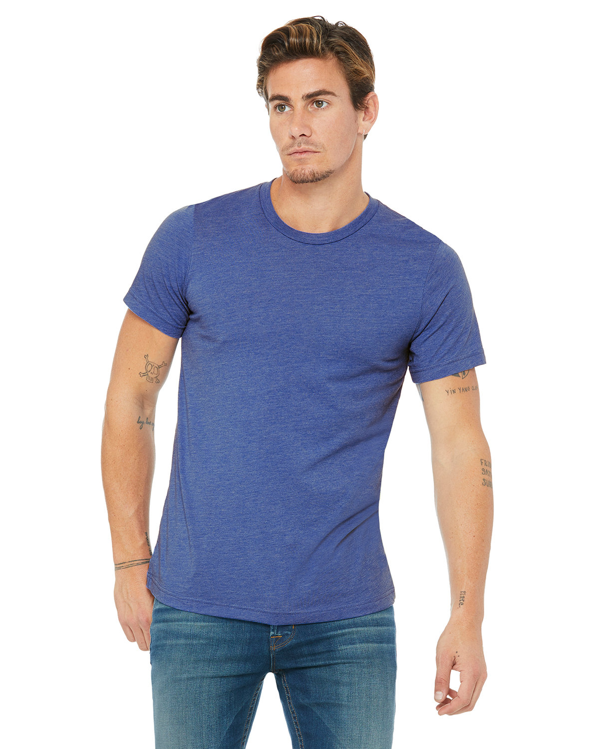 Bella + Canvas Unisex Heather CVC T-Shirt HTHR TRUE ROYAL