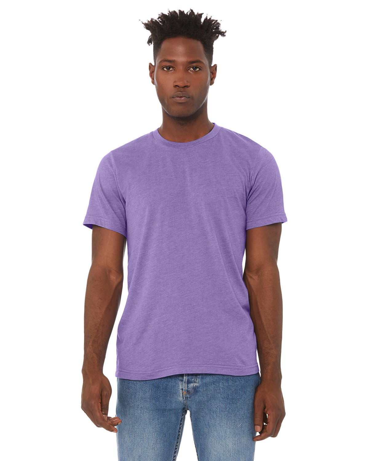 Bella + Canvas Unisex Heather CVC T-Shirt HEATHER LAPIS