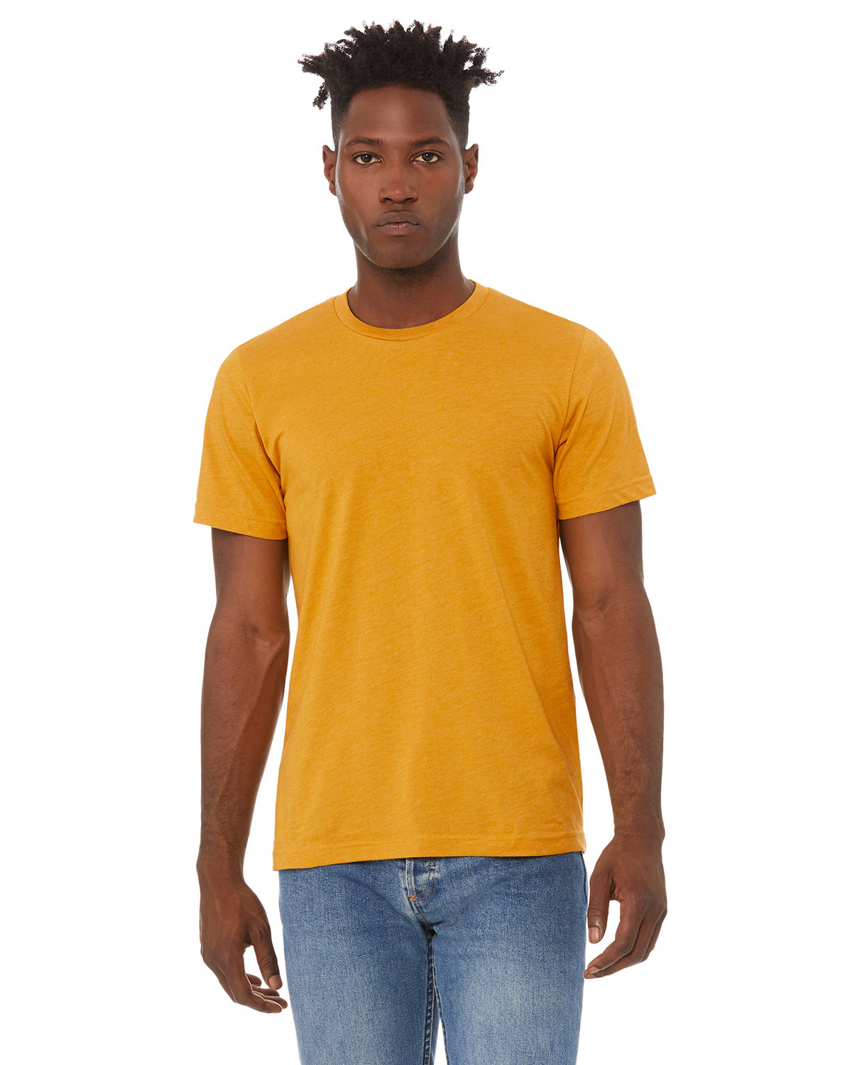 Bella + Canvas Unisex Heather CVC T-Shirt HEATHER MUSTARD