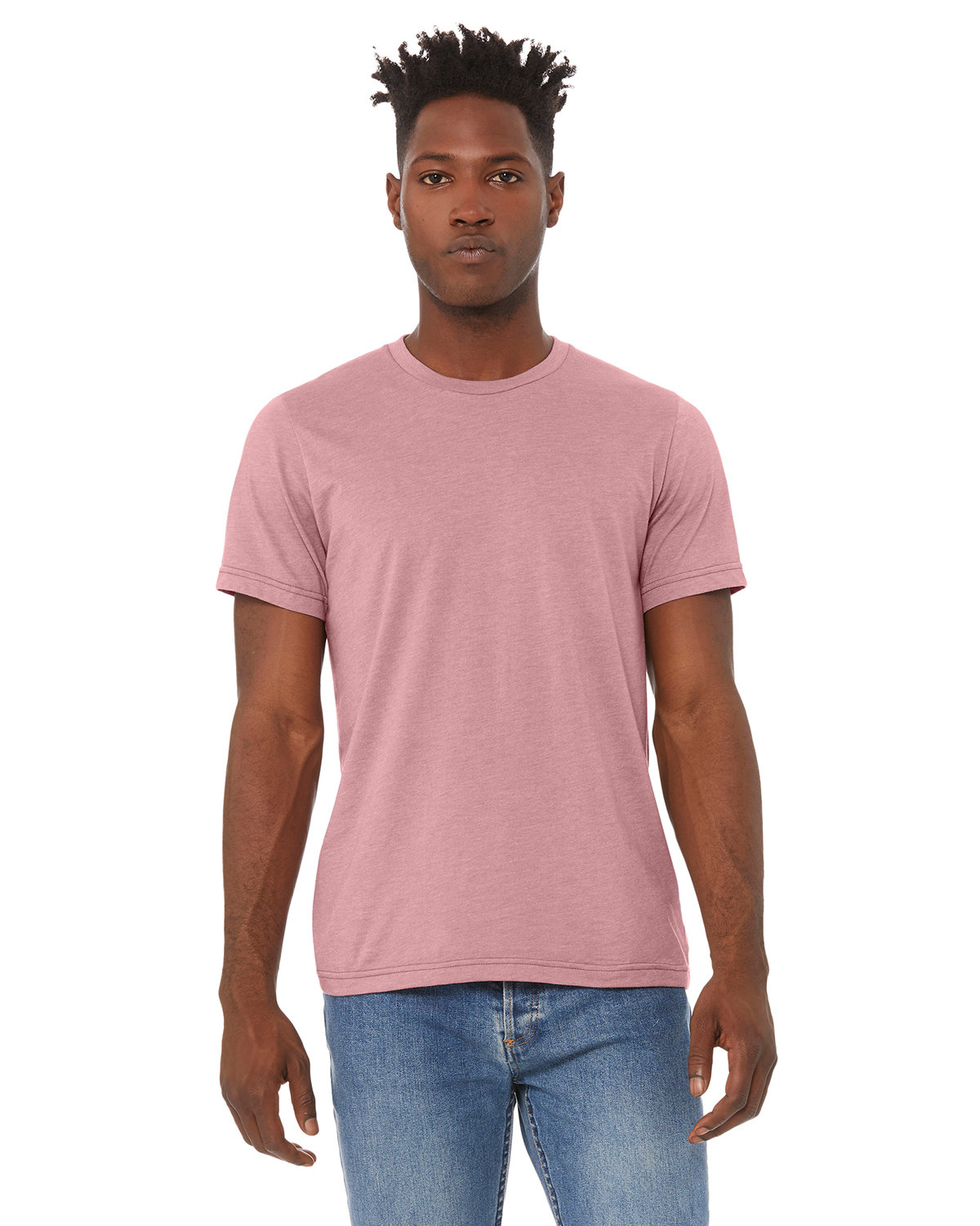 Bella + Canvas Unisex Heather CVC T-Shirt HEATHER ORCHID