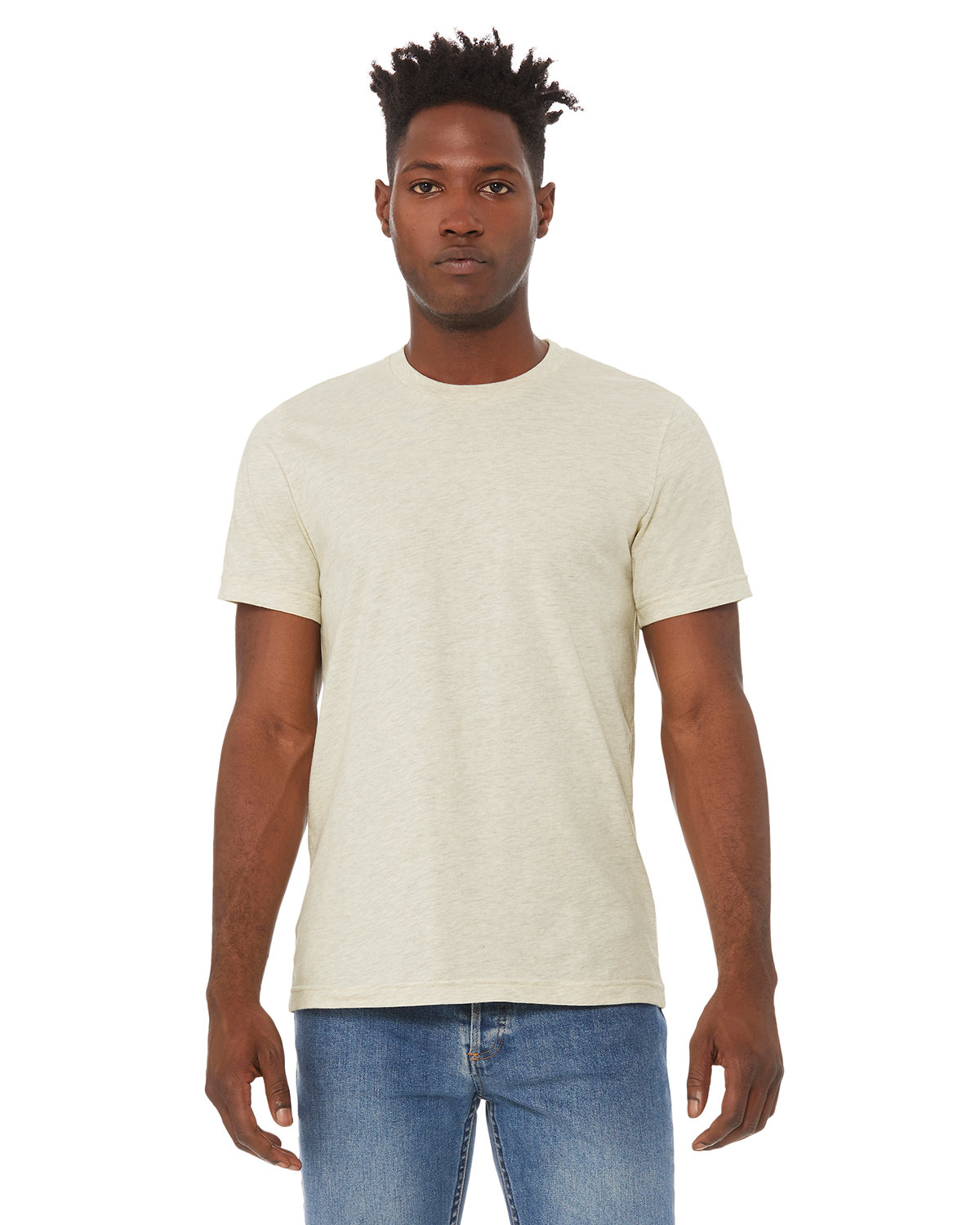 Bella + Canvas Unisex Heather CVC T-Shirt HTHR PRSM NATURL