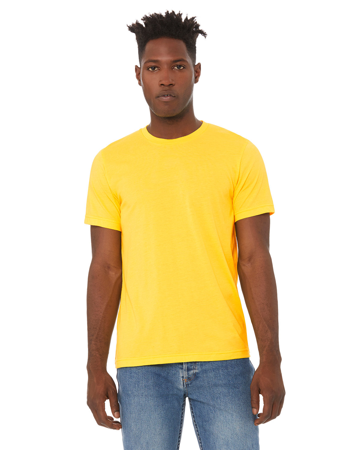 Bella + Canvas Unisex Heather CVC T-Shirt HEATHER YELLOW