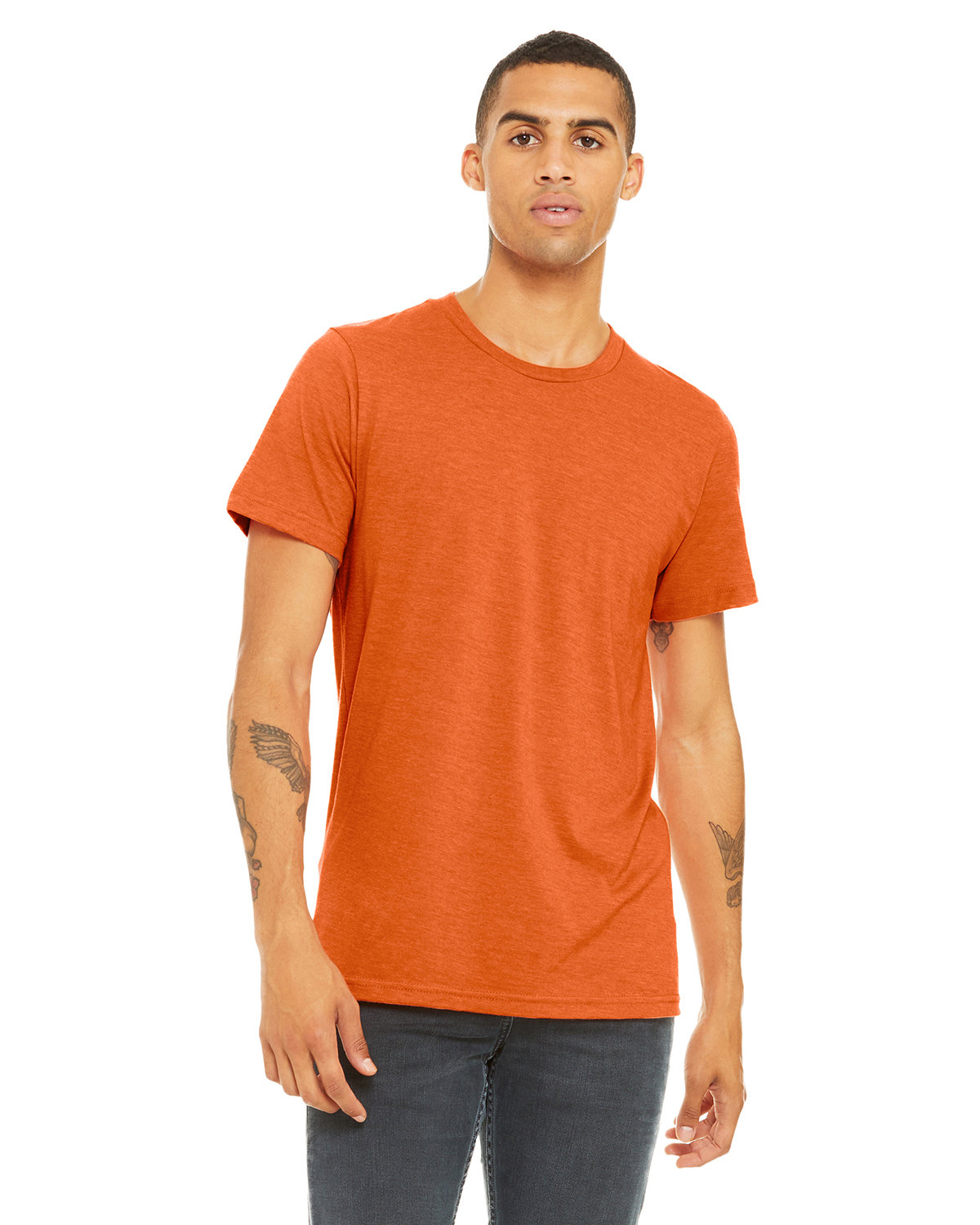 Bella + Canvas Unisex Heather CVC T-Shirt HEATHER ORANGE