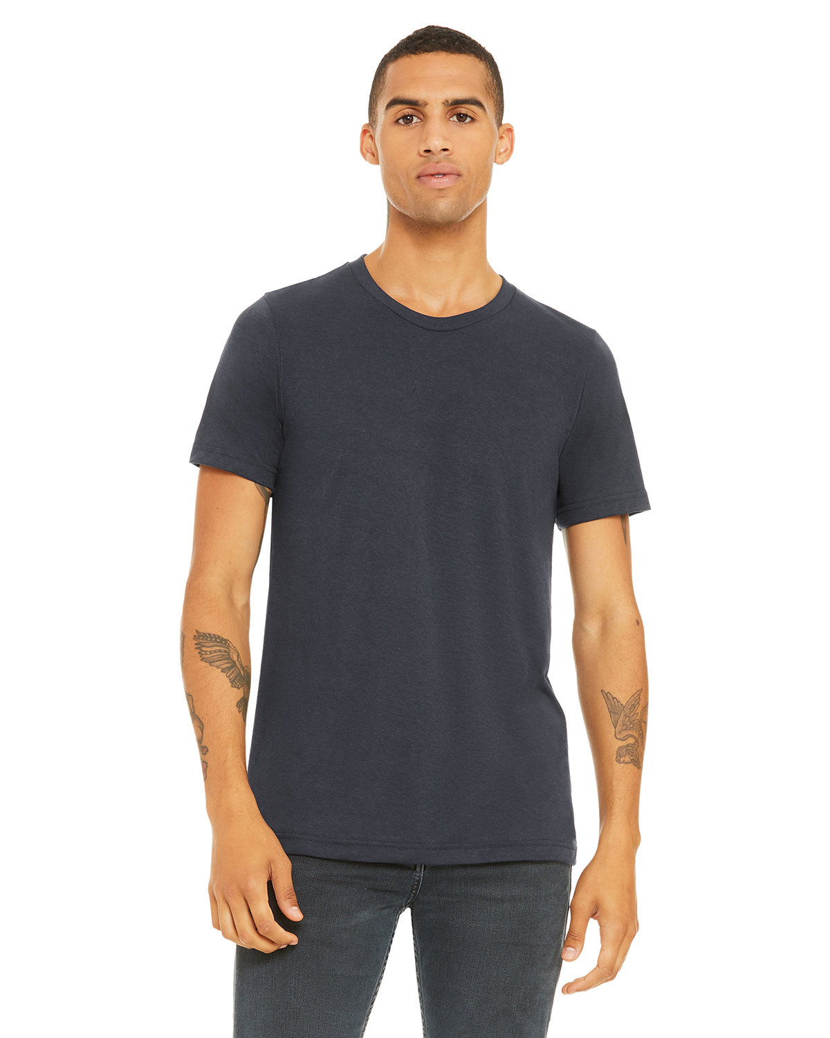 Bella + Canvas Unisex Heather CVC T-Shirt HEATHER MID NAVY