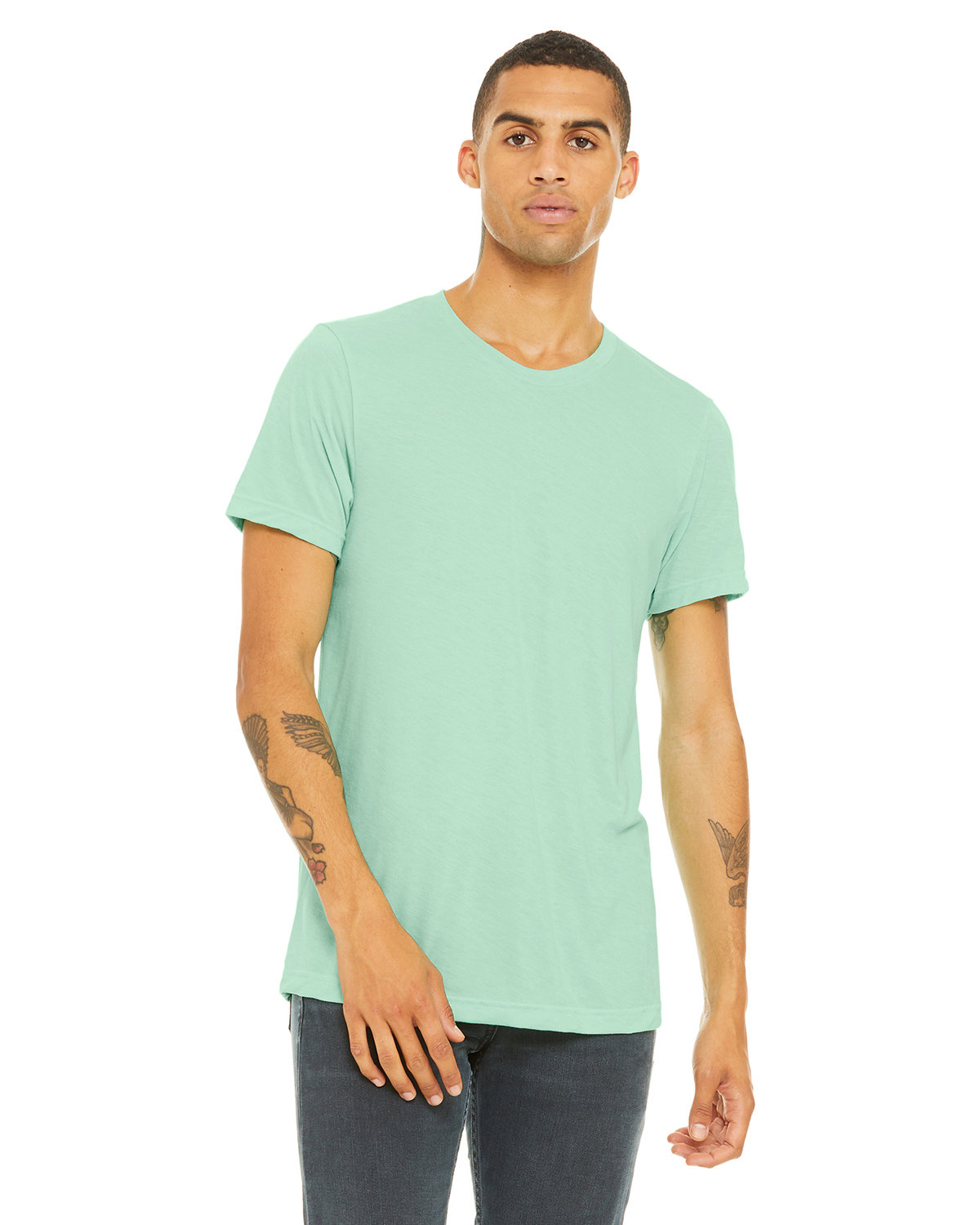 Bella + Canvas Unisex Heather CVC T-Shirt HEATHER MINT