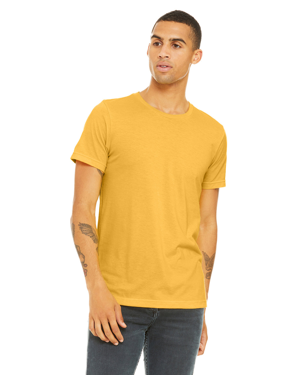 Bella + Canvas Unisex Heather CVC T-Shirt HTHR YELLOW GOLD