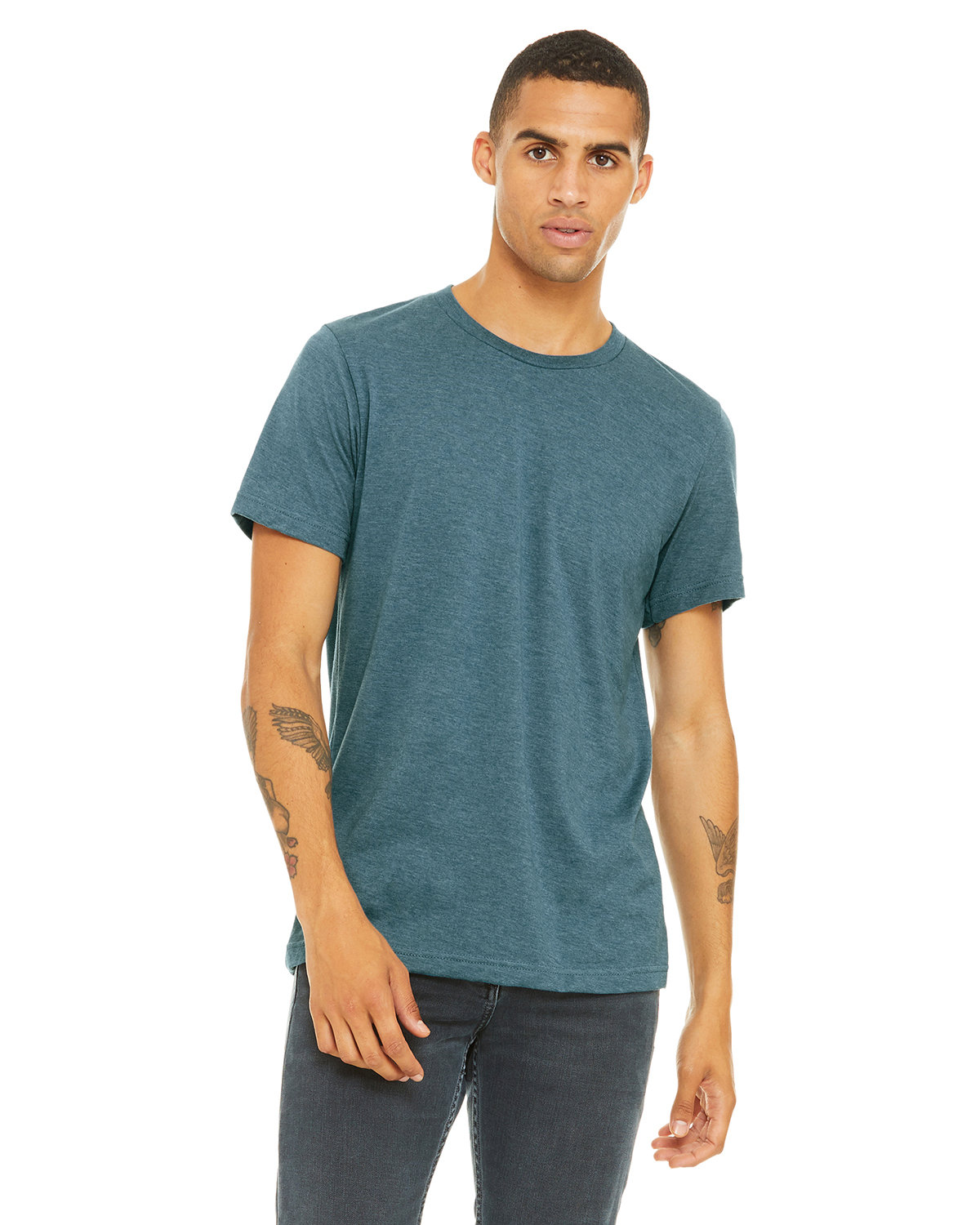 Bella + Canvas Unisex Heather CVC T-Shirt HEATHR DEEP TEAL