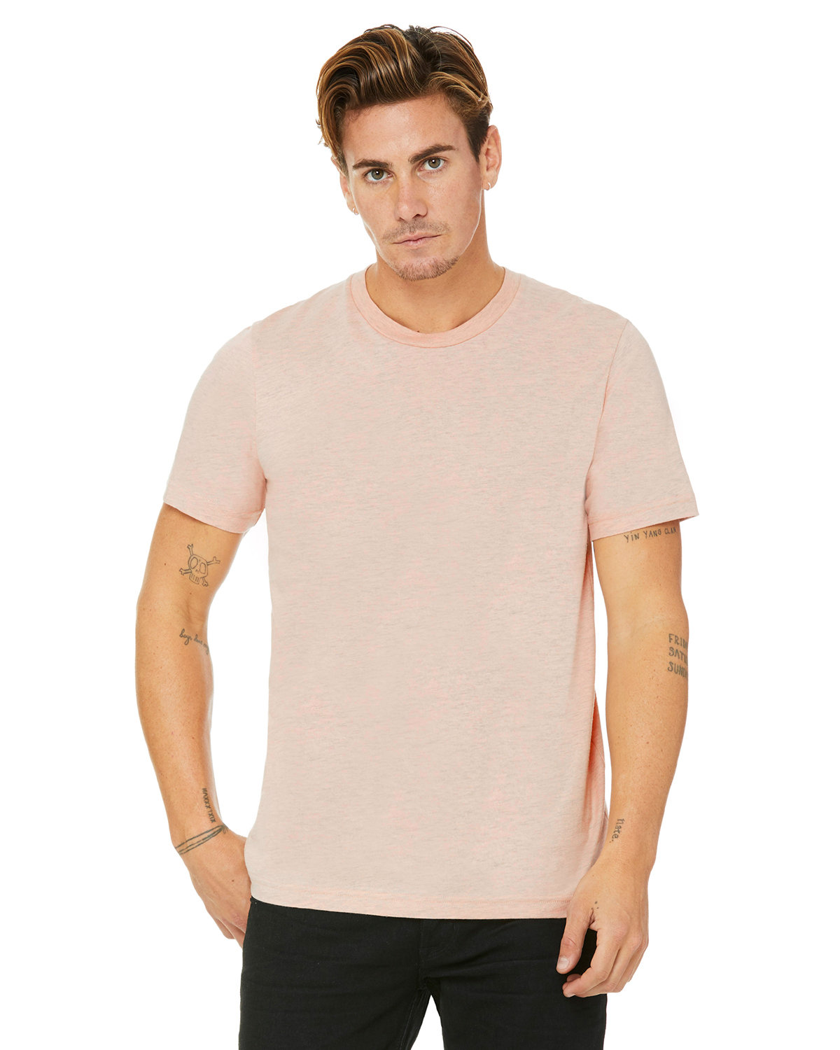 Bella + Canvas Unisex Heather CVC T-Shirt HTHR PRISM PEACH