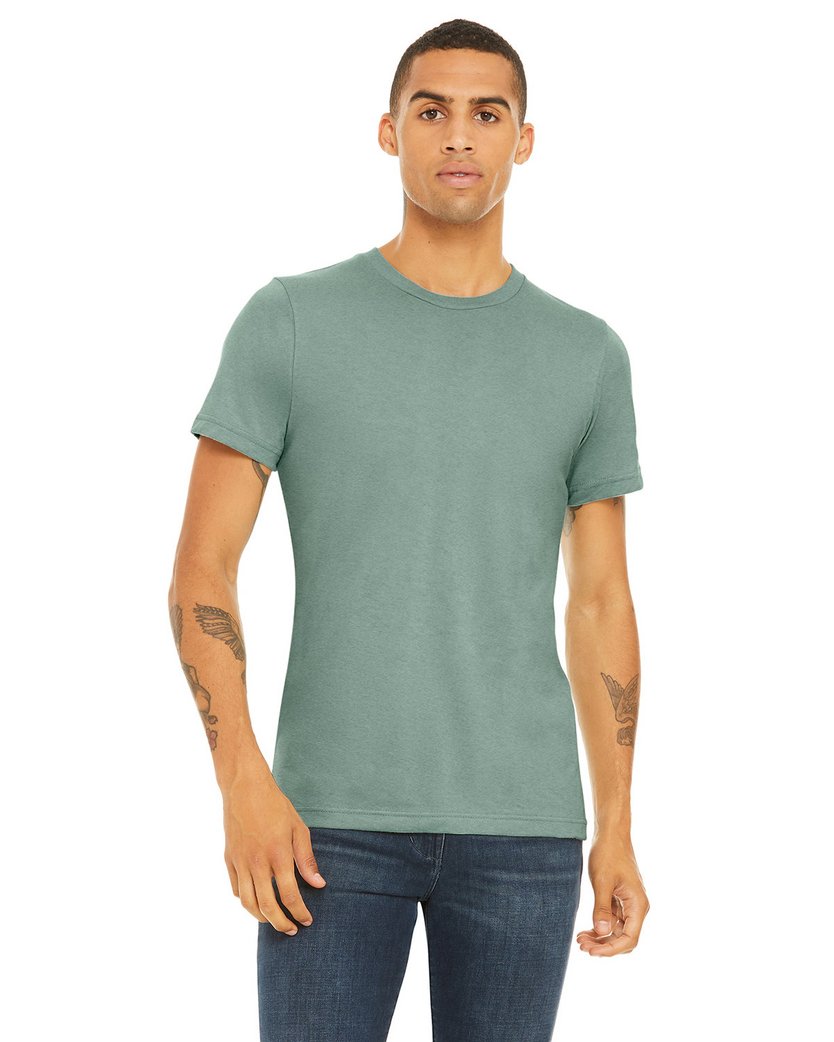 Bella + Canvas Unisex Heather CVC T-Shirt HTHR DUSTY BLUE