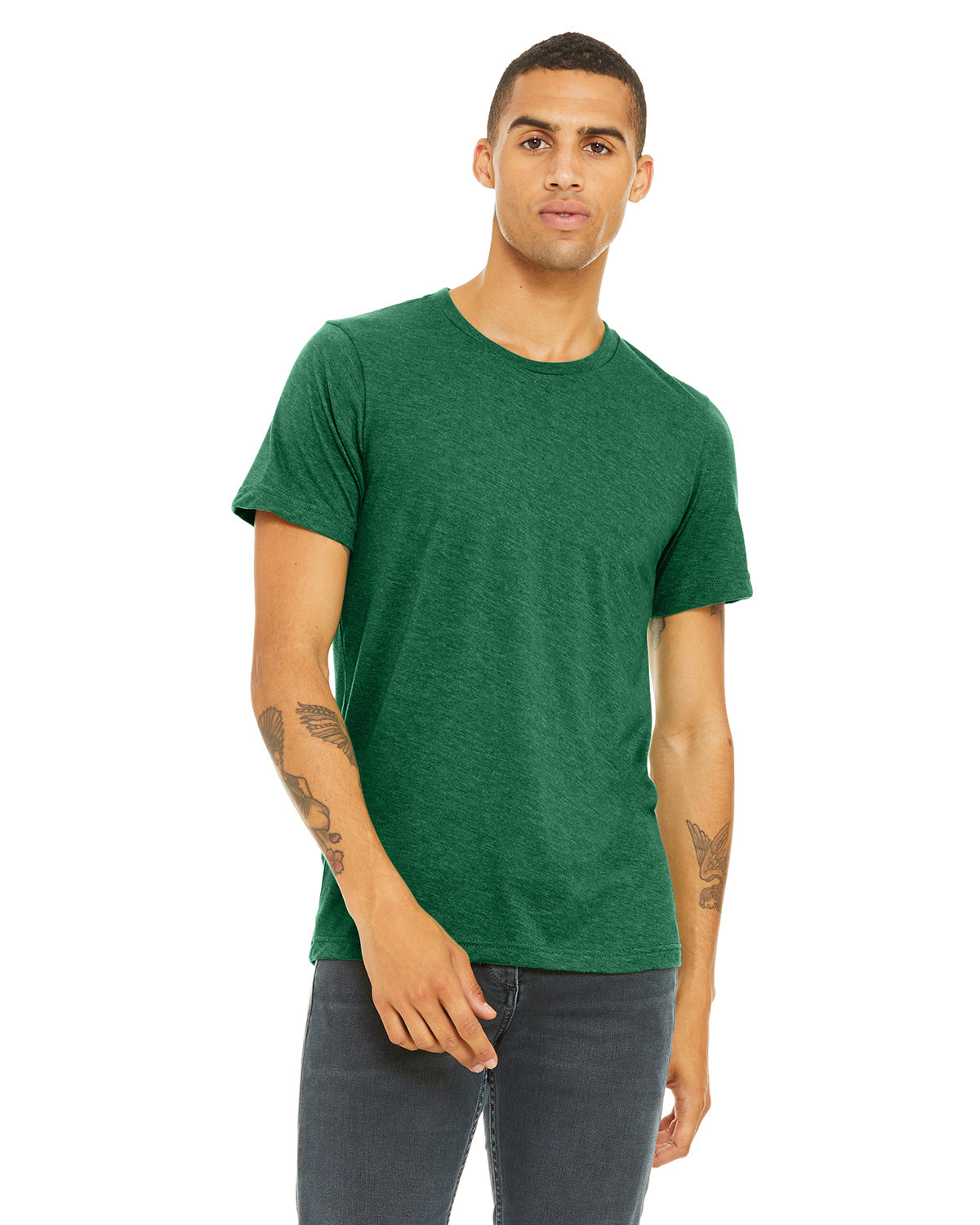 Bella + Canvas Unisex Heather CVC T-Shirt HTHR GRASS GREEN