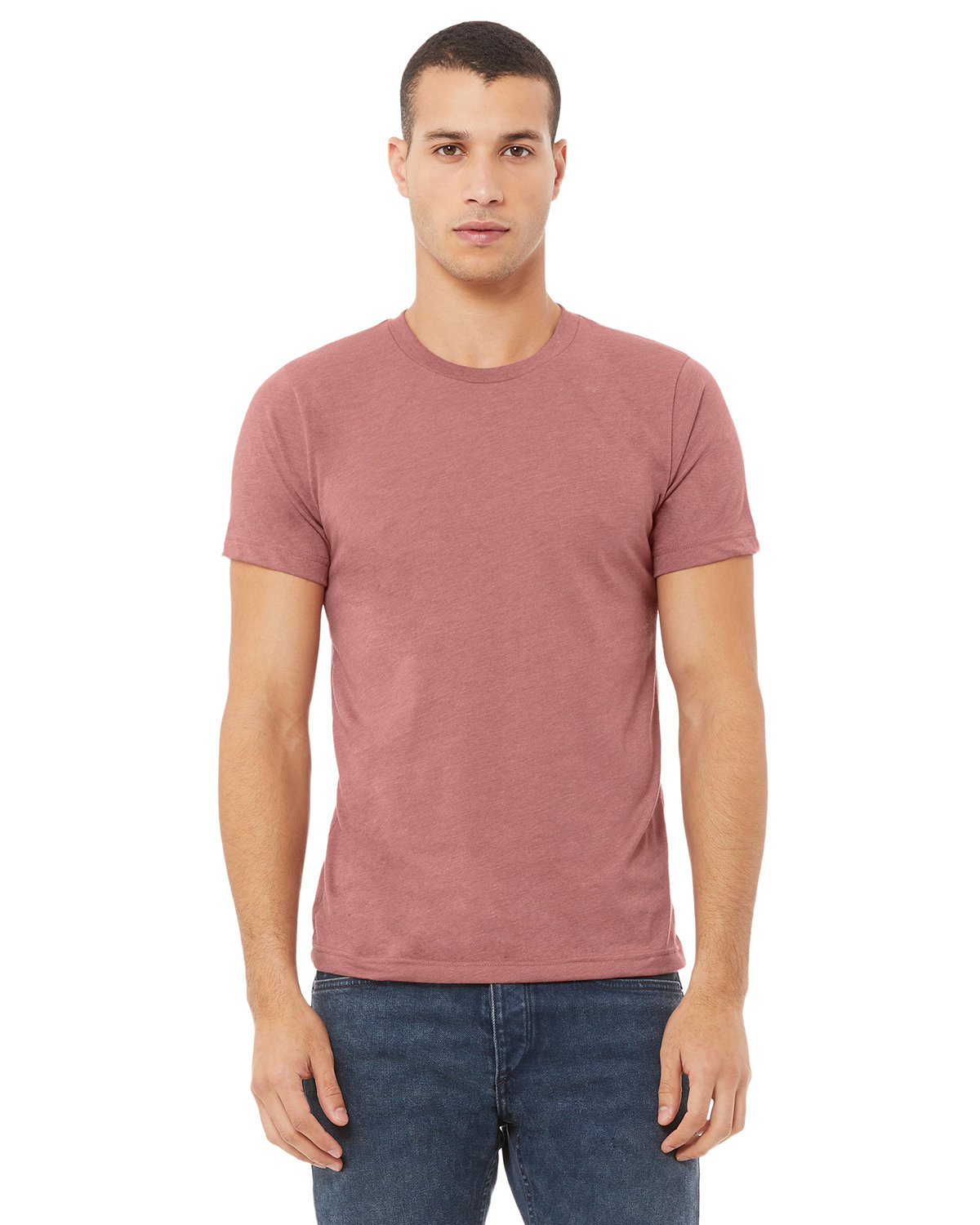 Bella + Canvas Unisex Heather CVC T-Shirt HEATHER MAUVE