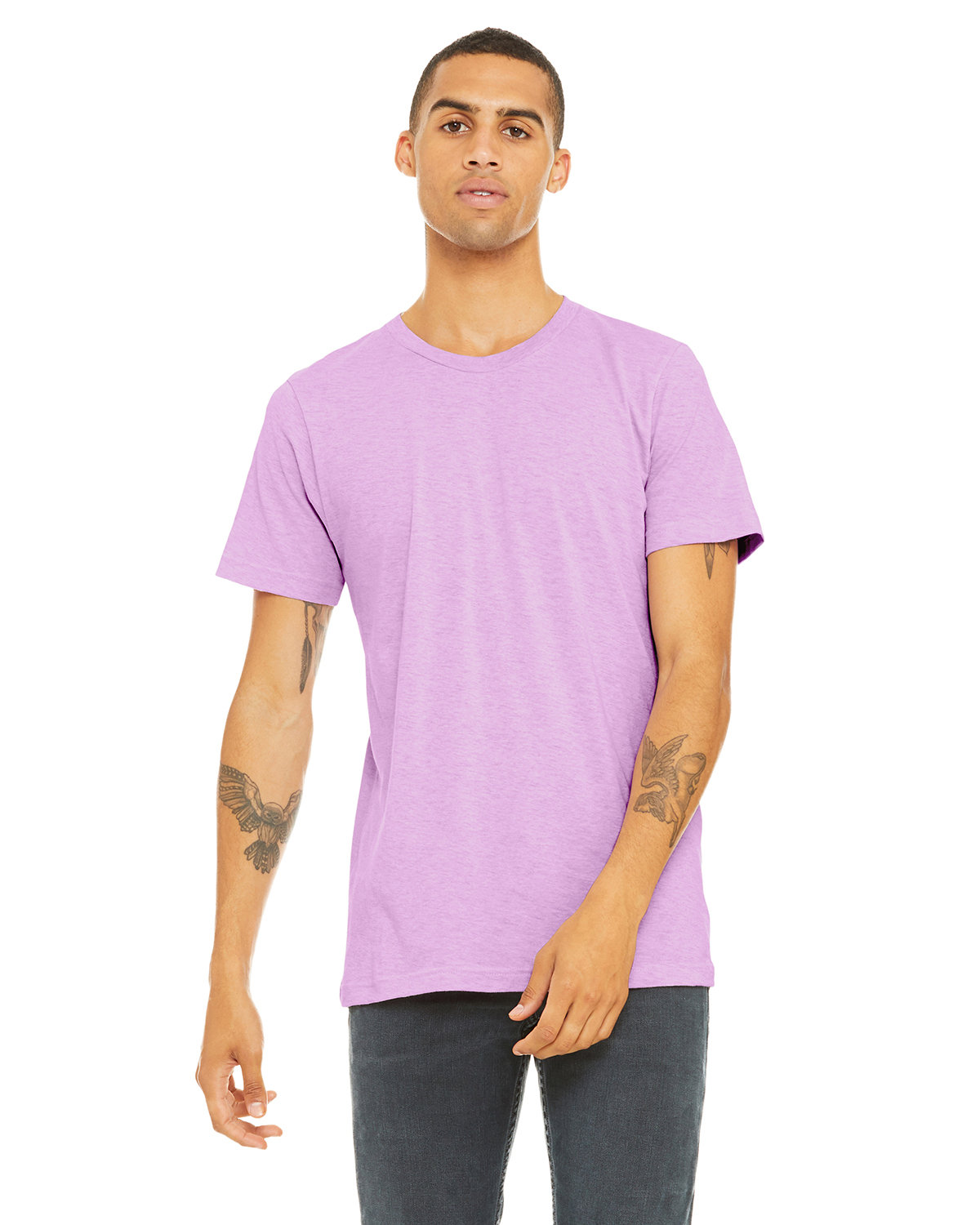 Bella + Canvas Unisex Heather CVC T-Shirt HTHR PRISM LILAC
