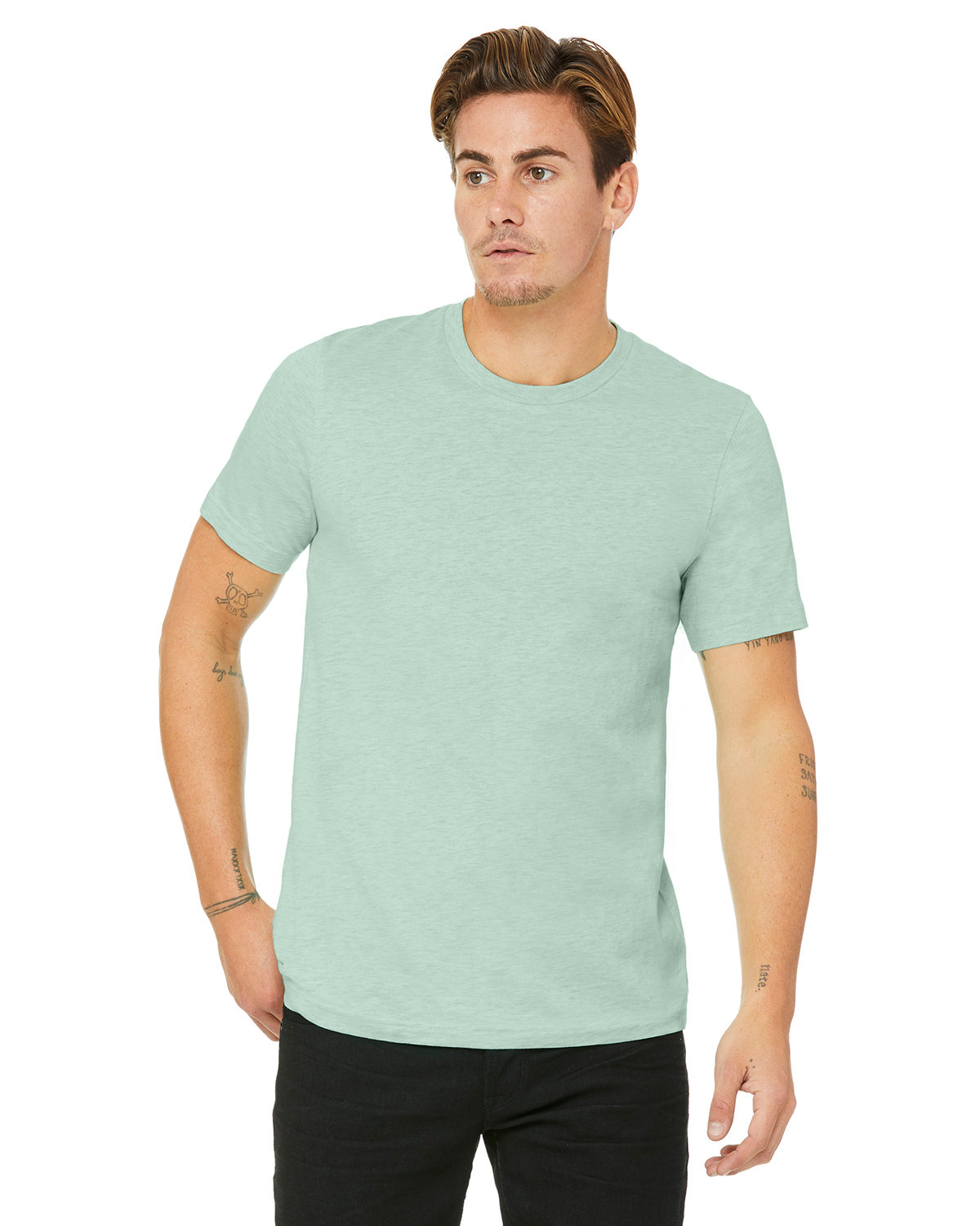 Bella + Canvas Unisex Heather CVC T-Shirt HTHR PRISM MINT