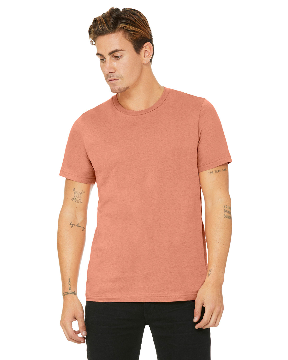Bella + Canvas Unisex Heather CVC T-Shirt HTHR PRSM SUNSET
