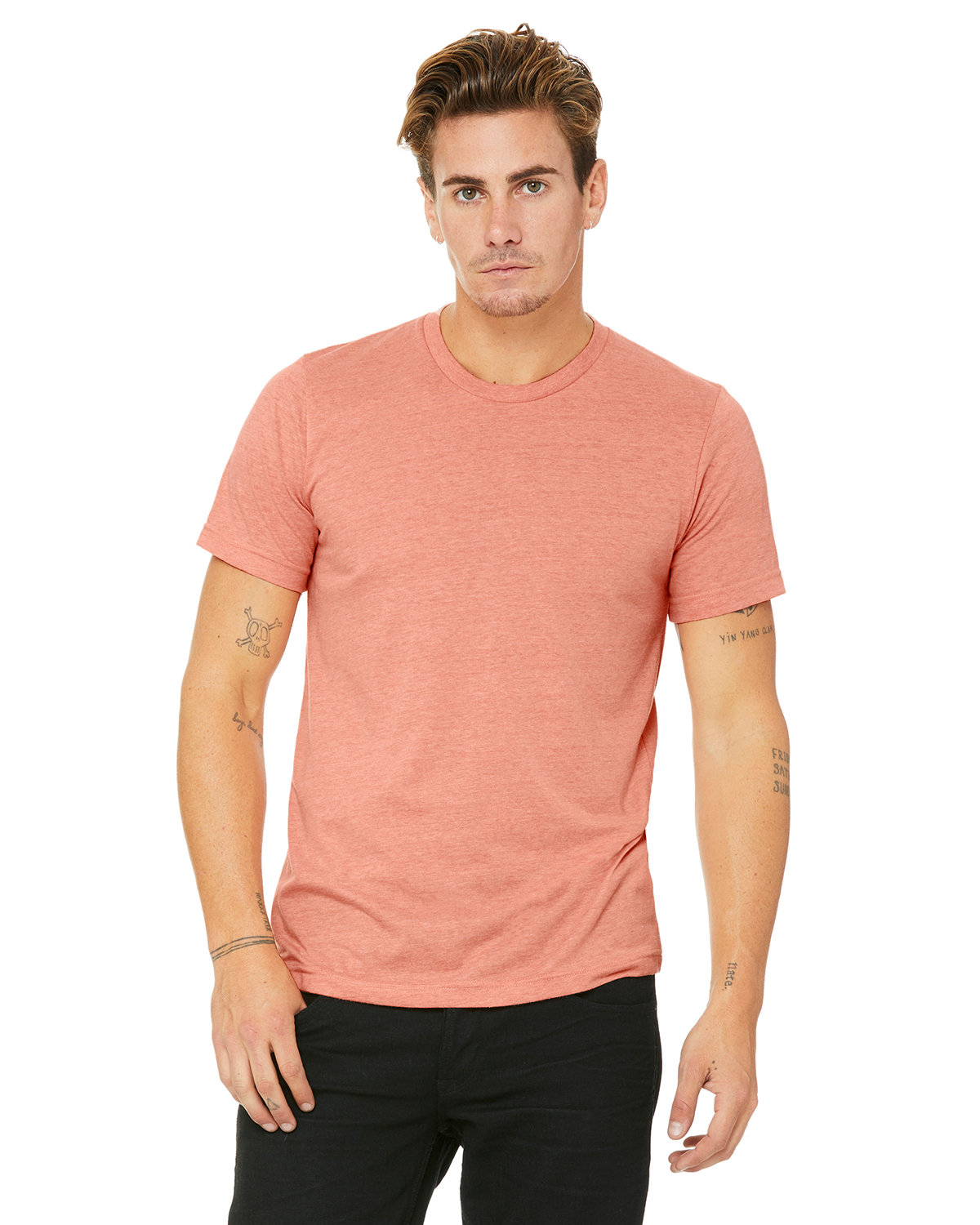 Bella + Canvas Unisex Heather CVC T-Shirt HEATHER SUNSET