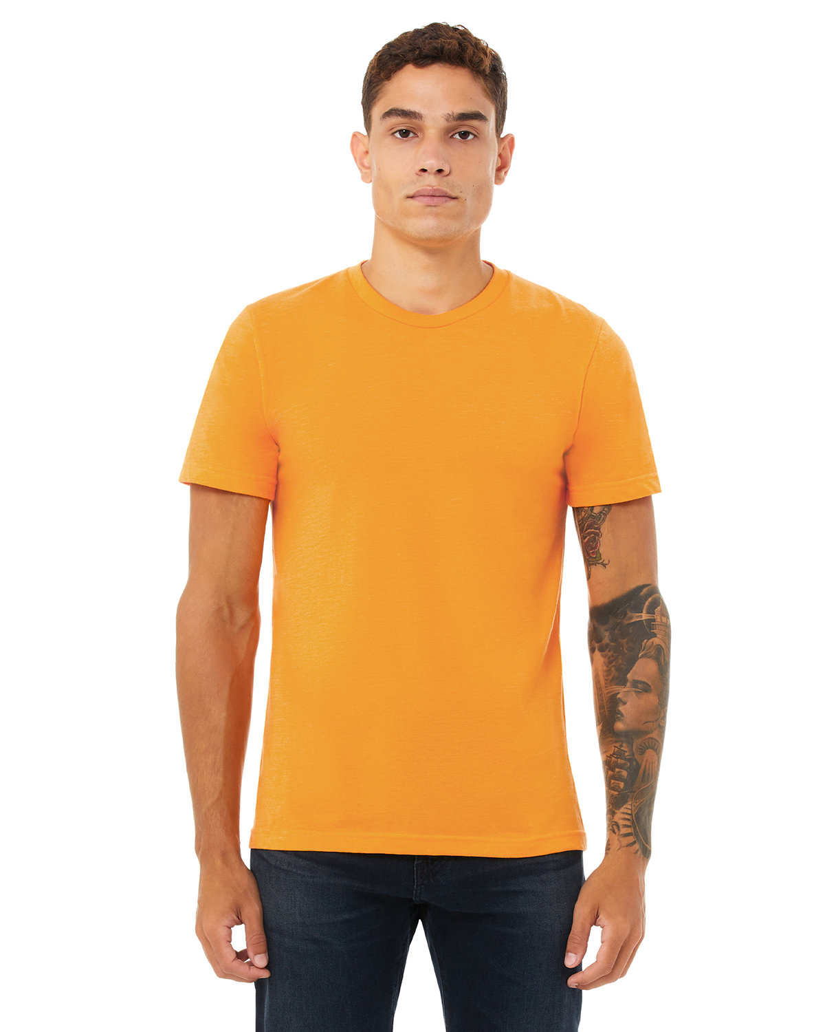 Bella + Canvas Unisex Heather CVC T-Shirt HEATHR MARMALADE
