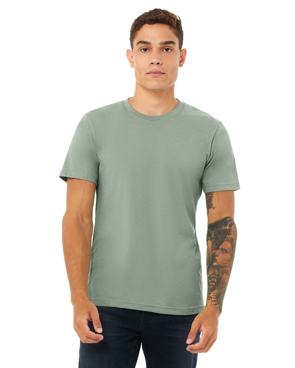 Bella + Canvas Unisex Heather CVC T-Shirt HEATHER SAGE