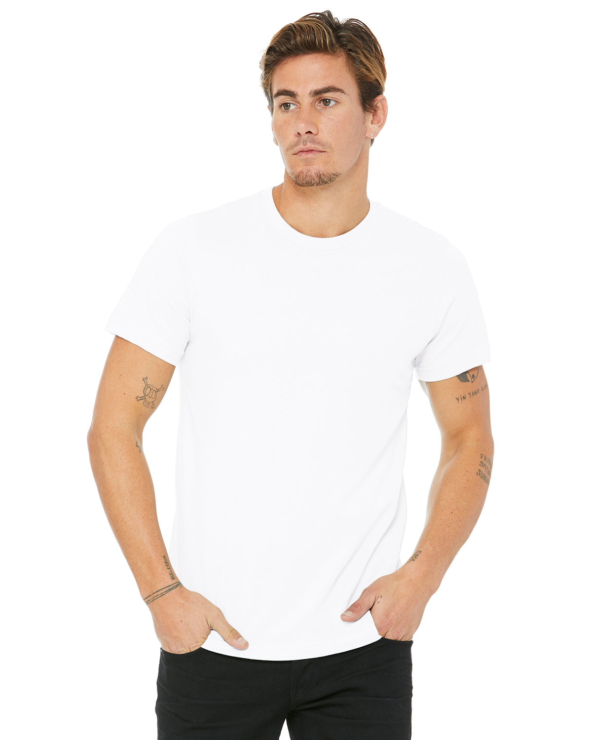 Bella + Canvas Unisex Made In The USA Jersey T-Shirt WHITE