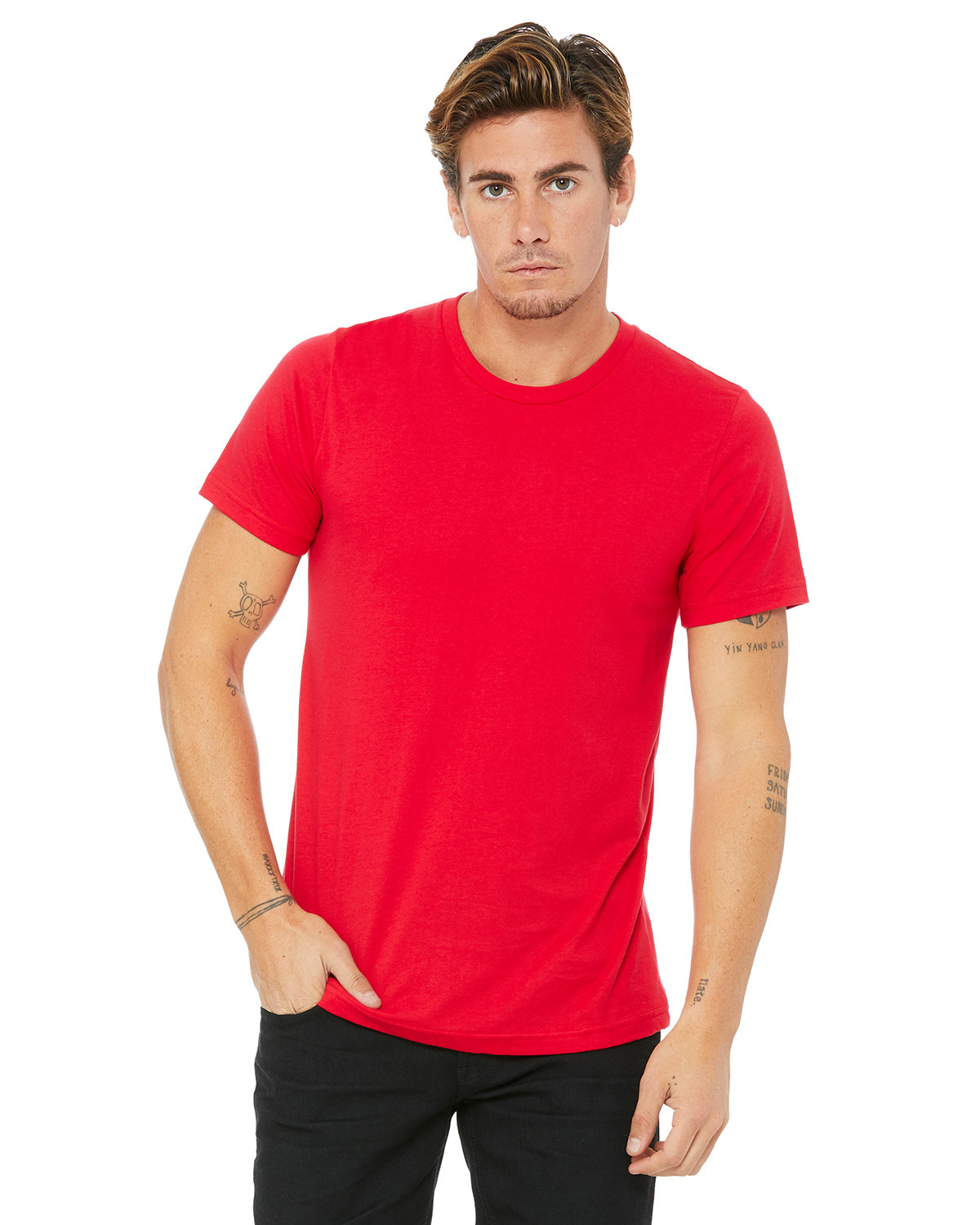 Bella + Canvas Unisex Made In The USA Jersey T-Shirt RED